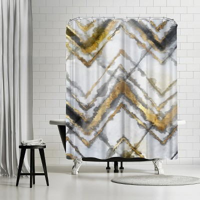 "Americanflat Neutral Tye Dye Iii Neutral Version by Pi Creative Art 71"" x 74"" Shower Curtain"