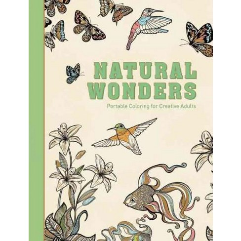 Natural Wonders Adult Coloring Book Portable For Creative
