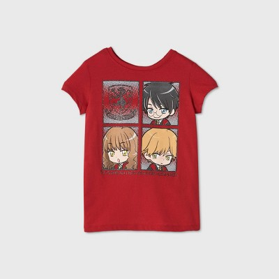 Girls' Harry Potter Short Sleeve Graphic T-Shirt - Red