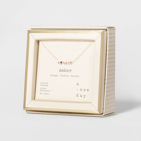 Sterling Plated Necklace - A New Day™ - image 1 of 3