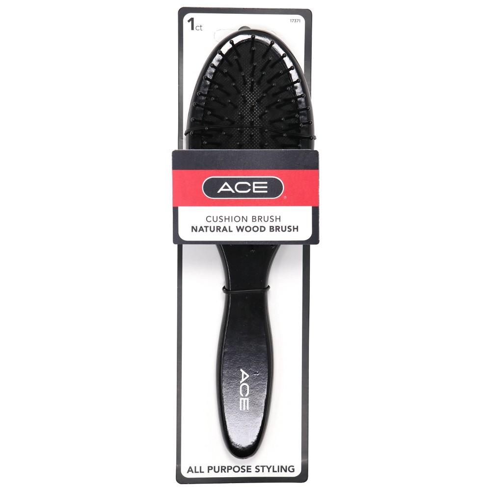 Image of Ace Wood Cushion Brush, Black