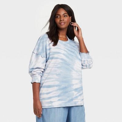 Women's Tie-Dye Sweatshirt - Knox Rose™ Blue