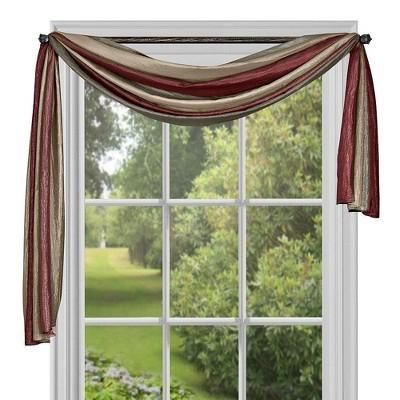 GoodGram Royal Ombre Crushed Semi Sheer Window Curtain Scarf Treatment