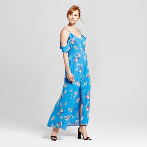 150498d45ca Women s Cold Shoulder Maxi Dress - Xhilaration™ (Juniors ) Blue S ...