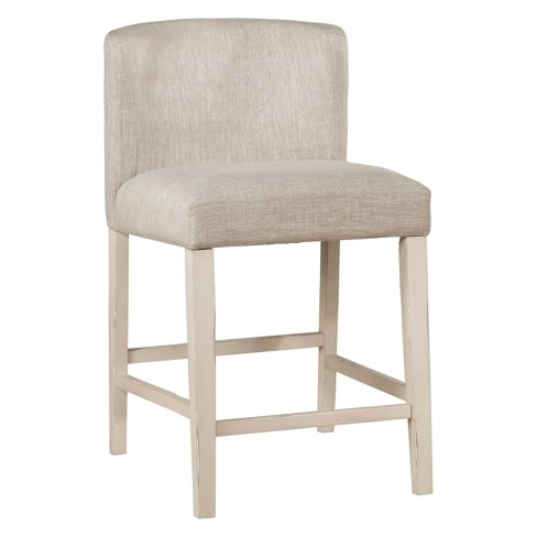 Clarion NonSwivel Wing Arm Counter Height Stool Set of 2 Sea White - Hillsdale Furniture - image 1 of 1