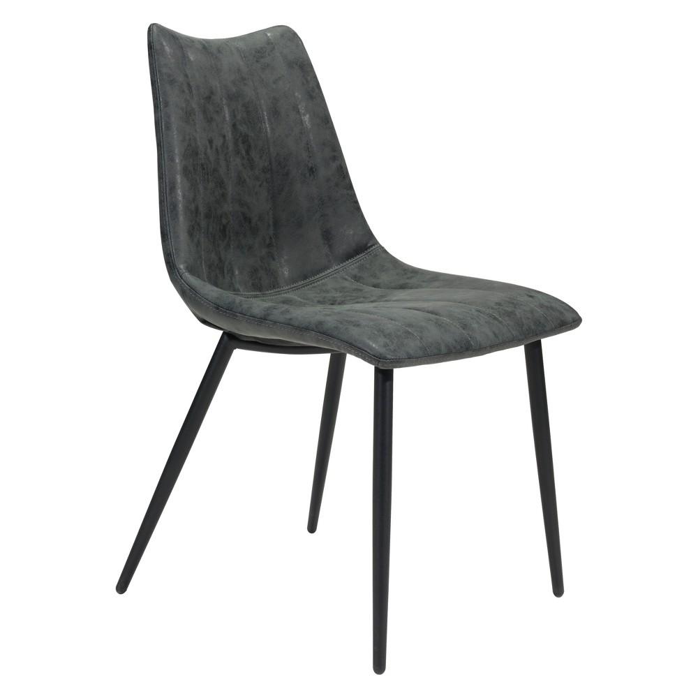 Modern Dining Chair (Set of 2) Vintage Black - ZM Home