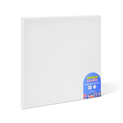 Square Stretched Canvas White - Mondo Llama™