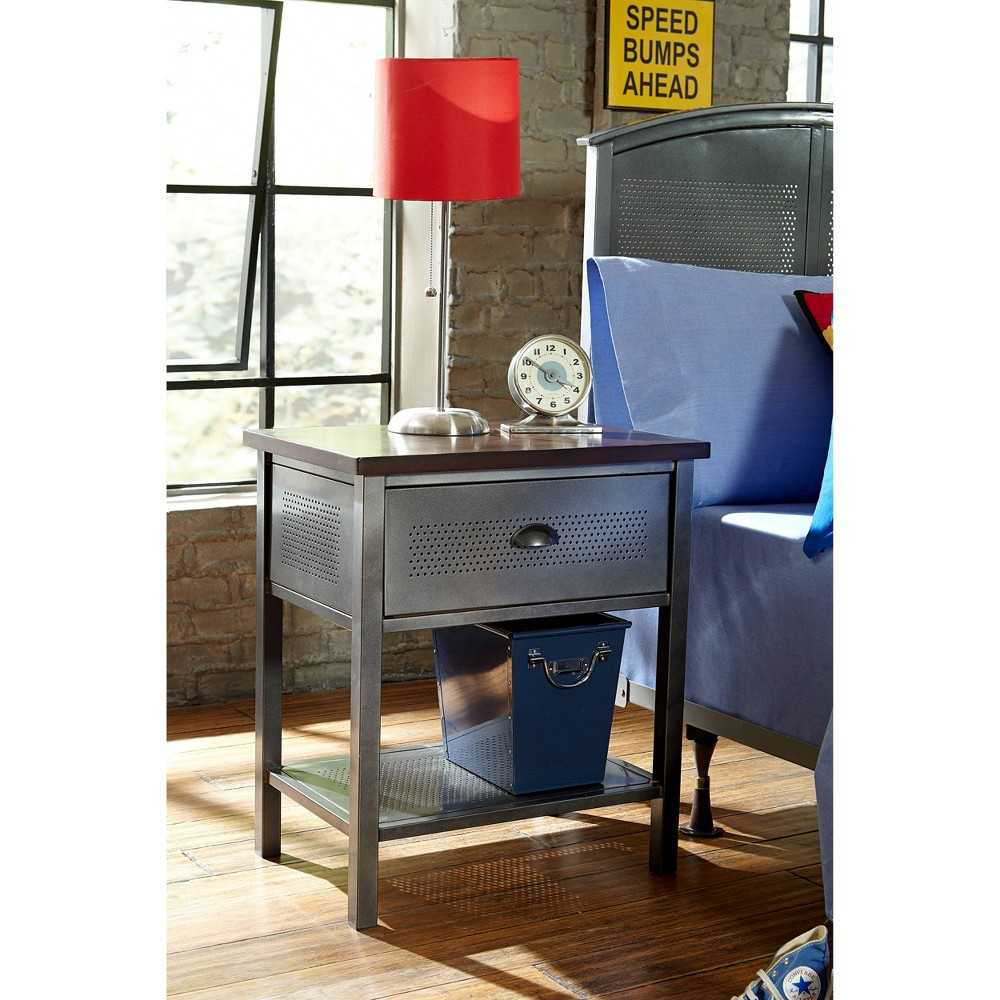 Image of Kids Urban Quarters Nightstand Black - Hillsdale Furniture
