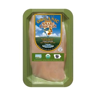 Smart Chicken Organic Boneless-Skinless Chicken Breast Fillet - price per lb