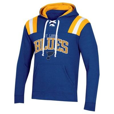 NHL St. Louis Blues Men's Hat Trick Laced Hoodie - L