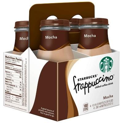 Starbucks Frappuccino Mocha Coffee Drink - 4pk/9.5 fl oz Glass Bottles