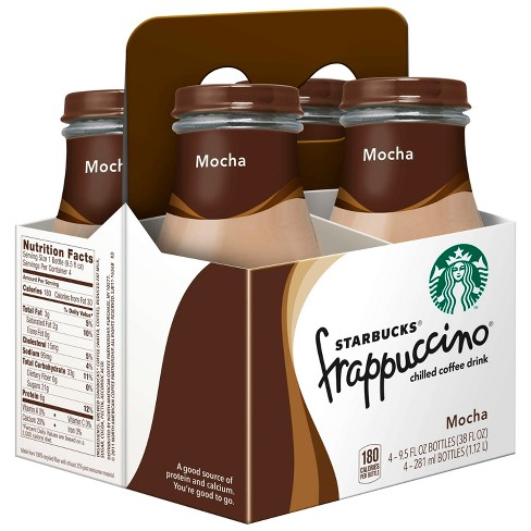 Starbucks Frappuccino Mocha Coffee Drink - 4pk/9.5 fl oz Glass Bottles - image 1 of 3