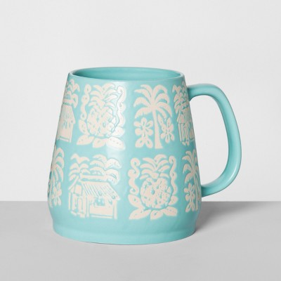 Stoneware Mallorca Mug 24oz Blue - Opalhouse™