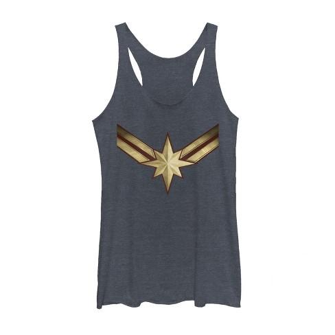 Women's Marvel Captain Marvel Star Symbol Costume Racerback Tank Top - image 1 of 1