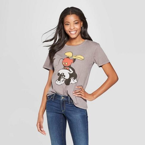 94ce3d58 Women's Mickey Mouse Short Sleeve T-Shirt - Junk Food (Juniors') Gray