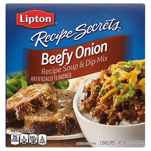 Lipton Recipe Secrets Soup & Dip Mix Beefy Onion 2.2oz - image 1 of 4