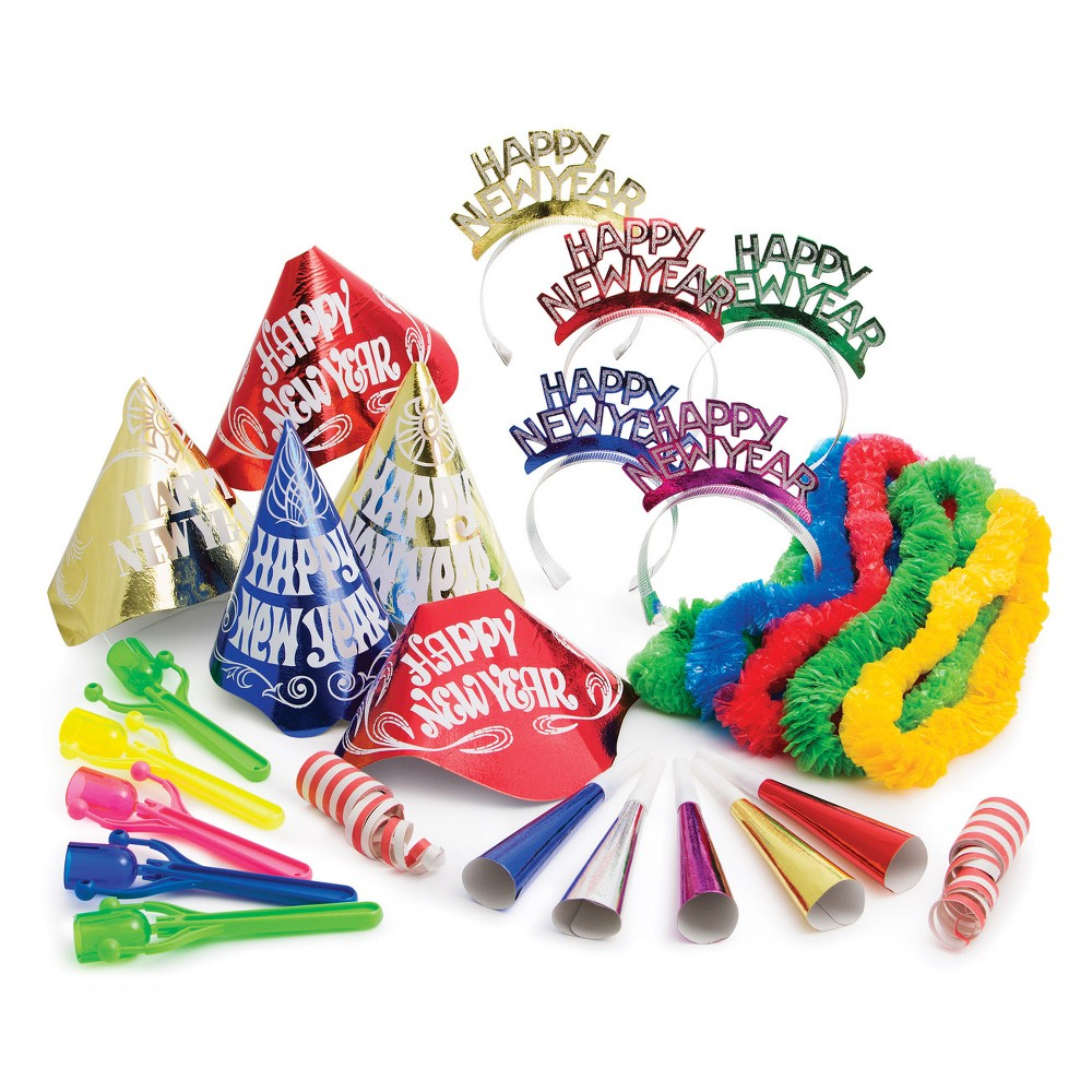 Happy New Year Party Kit For 10, Multi-Colored