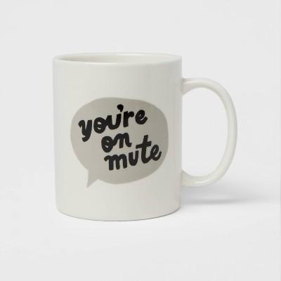 15oz Stoneware You're On Mute Mug - Room Essentials™