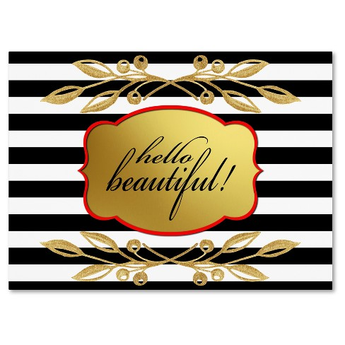 Gold Hello Beautiful' by Lightbox Journal Ready to Hang Canvas Wall Art - image 1 of 3