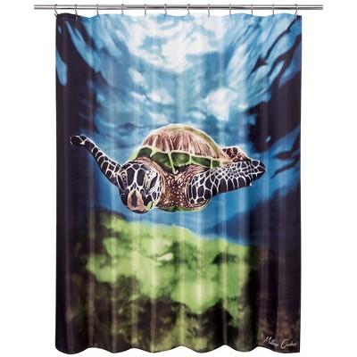 Sea Turtle Shower Curtain - Allure Home Creation