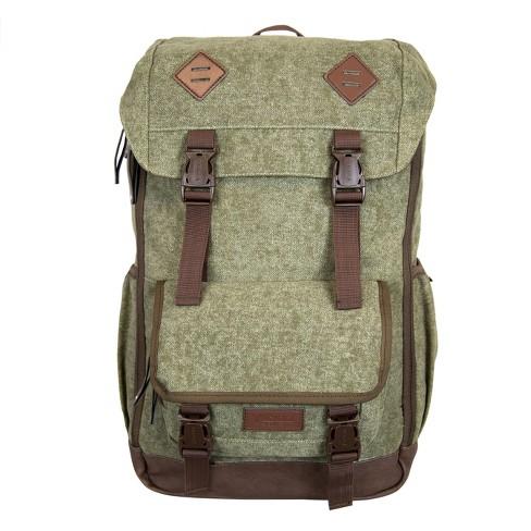 """BONDKA 18"""" Jam Canvas Backpack - Olive Green - image 1 of 4"""