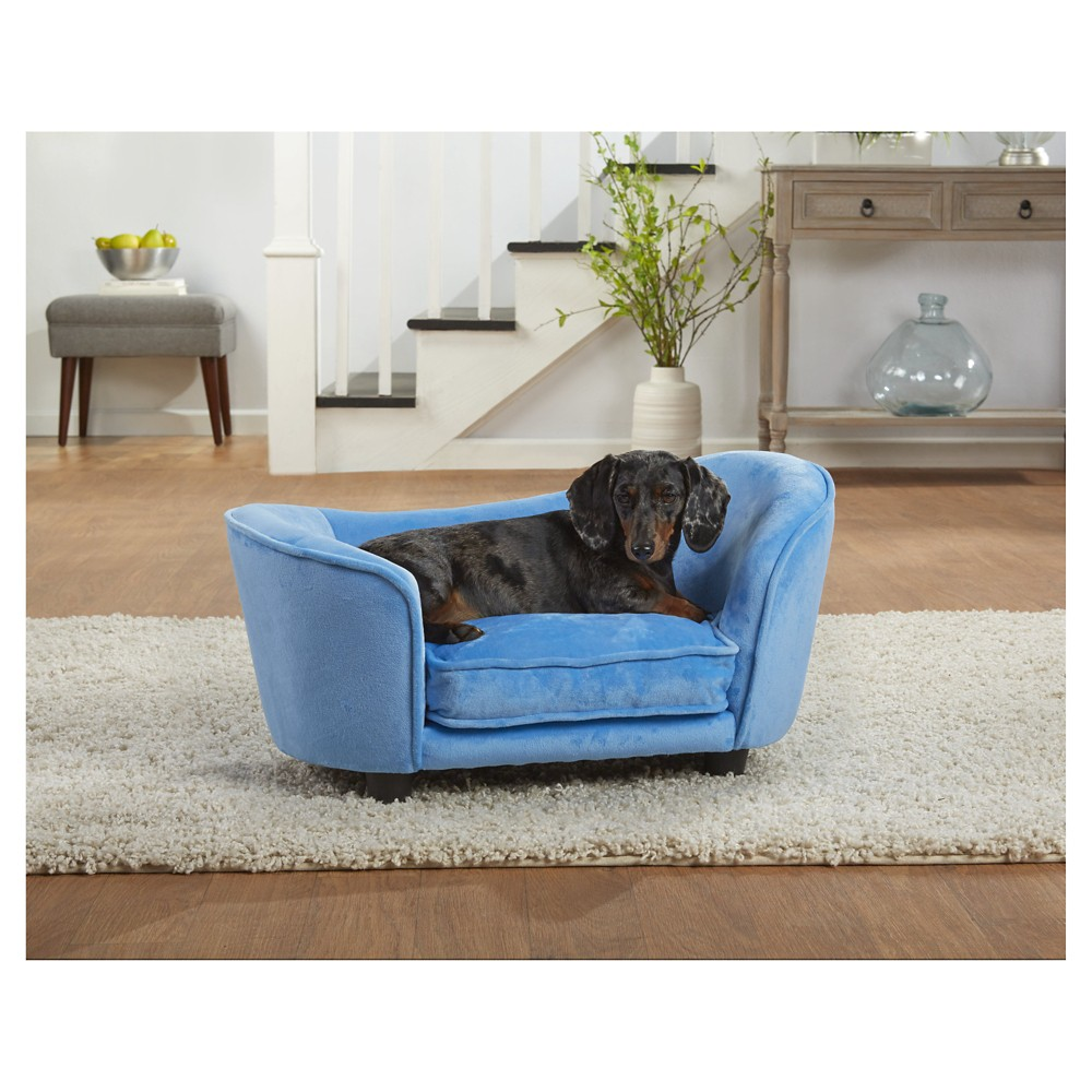 Enchanted Home Pet Ultra Plush Snuggle Pet Bed - Light Blue, Lite Blue
