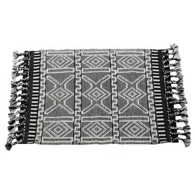 2'x3' Rectangle Hand Made Outdoor Woven Accent Rug Black - Foreside Home & Garden