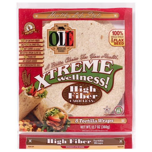 Ole Xtreme Wellness High Fiber Low Carb Tortilla Wraps - 12.7oz/8ct - image 1 of 3