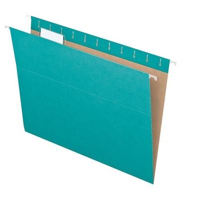 Pendaflex Recycled Hanging File Folders Letter Size Aqua 25/Box (PFX 81616) 2669259