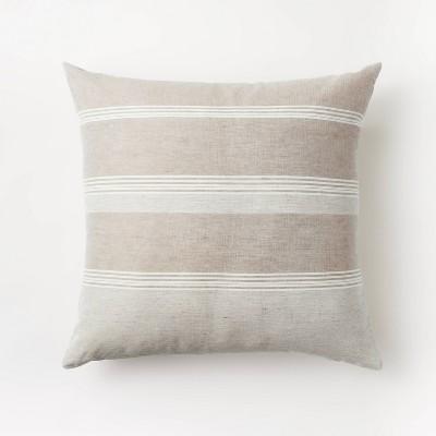 Woven Asymmetric Striped Throw Pillow - Threshold™ designed with Studio McGee