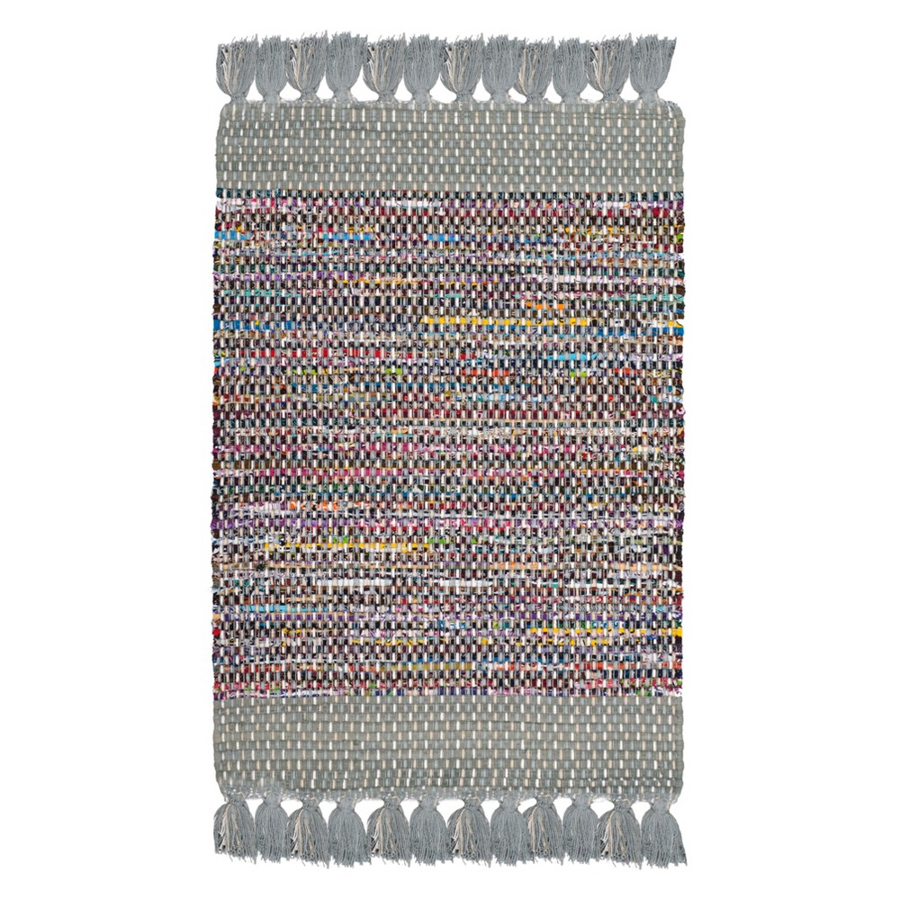 Solid Woven Area Rug 5'X8' - Safavieh, Gray/Multi-Colored
