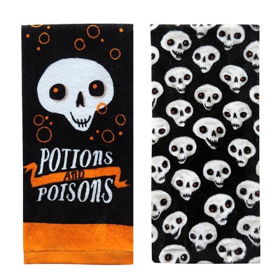 Potions and Poisons Halloween Hand Towel 2pk - Hyde and Eek! Boutique™