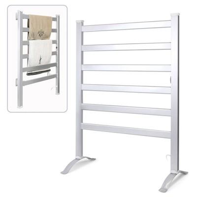 INNOKA 2 in 1 Multifunction Drying Rack Electric Heated Towel Warmer Aluminum Bathroom Stand (Wall Mounted/Freestanding)