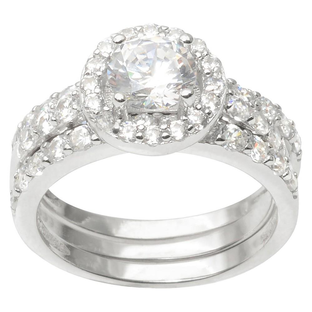 1 7/8 CT. T.W. Round Cut CZ Basket Set Elegant Ring in Sterling Silver - Silver (5)
