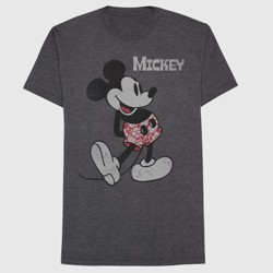 64d0fed283 Men's Mickey Mouse T-Shirt - Gray : Target