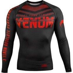 Venum Signature Long Sleeve Compression Rashguard Navy Blue//White