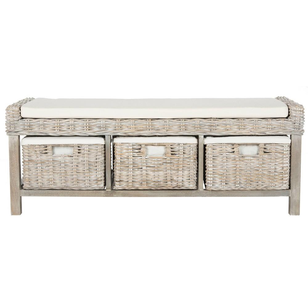 Storage Bench Wht - Safavieh, White