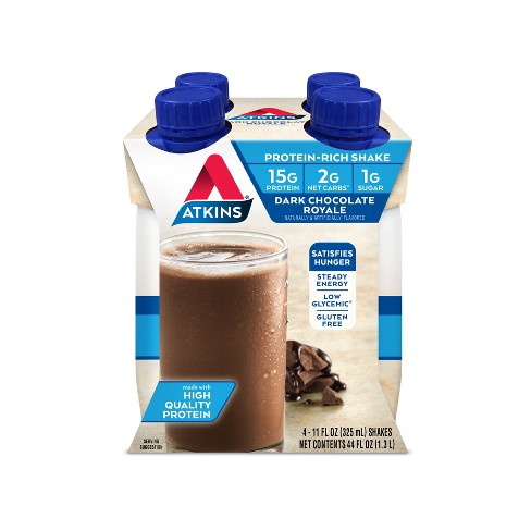 Atkins Royale Shake - Dark Chocolate  - 4ct - image 1 of 1