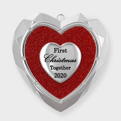 Harvey Lewis Designs Heart Shaped Our First Christmas Tree Ornament