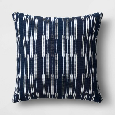 Oversize Woven Outdoor Throw Pillow Navy - Threshold™ designed with Studio McGee