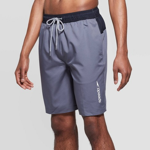 "Speedo Men's 9"" Marina Long Volley Swim Trunks - Gray - image 1 of 3"