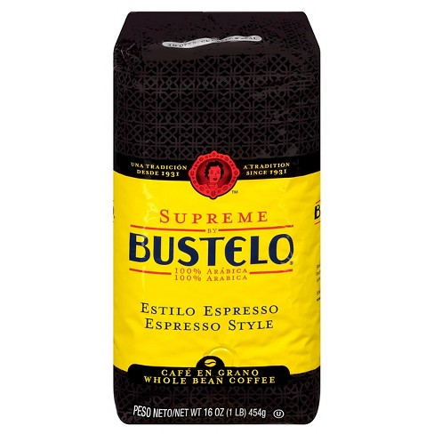Cafe Bustelo Espresso Style Whole Bean Dark Roast Coffee - 16oz - image 1 of 1