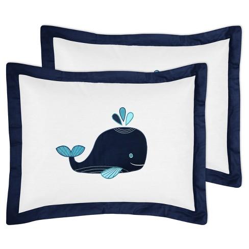 White Blue Whale Comforter Set Full Queen Sweet Jojo Designs