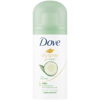 Dove go Fresh Cool Essentials 48-Hour Antiperspirant & Deodorant Dry Spray - Trial Size - 1oz