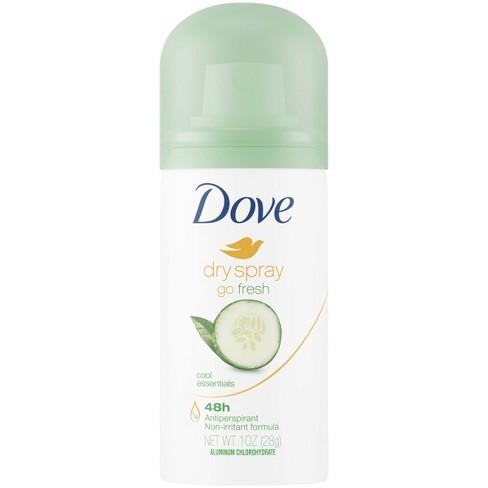 Dove Go Fresh Cool Essentials 48 Hour Antiperspirant Deodorant Dry Spray Trial Size 1oz Target