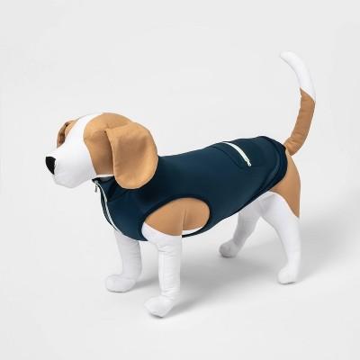 Athleisure Vest with Zipper Pocket Dog Apparel - Navy - Boots & Barkley™