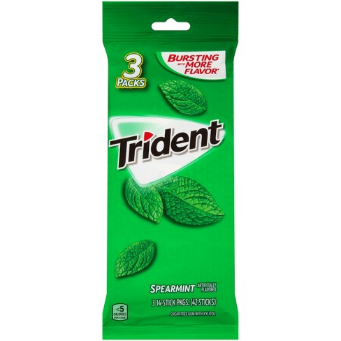 Trident Spearmint Sugar Free Gum - 42ct - image 1 of 1
