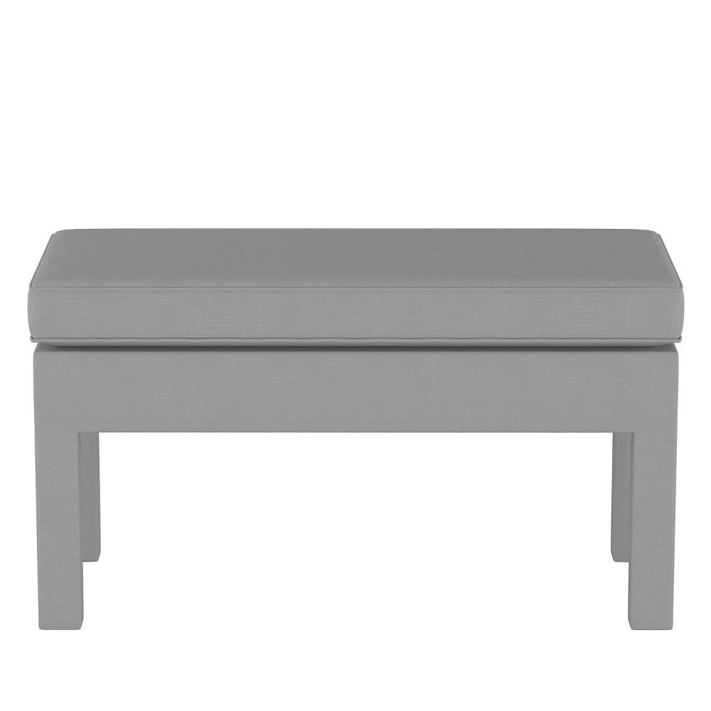 Upholstered Bench in Linen Gray - Threshold