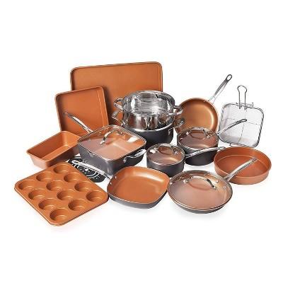 Gotham Steel Ti-cerama 20pc Cookware/Bakeware Set - Graphite
