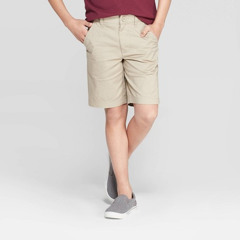 Boys' Flat Front Stretch Uniform Chino Shorts - Cat & Jack™ - image 1 of 3